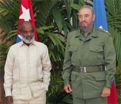 Rene Preval and Fidel Castro