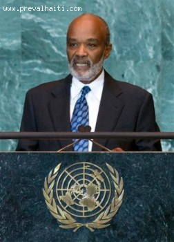Rene Preval At The United Nations