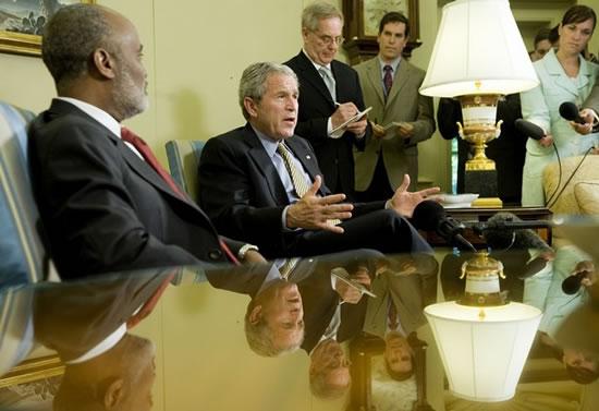 President Preval and President Bush