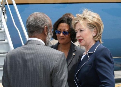 Secretary Hillary Clinton and Rene Preval