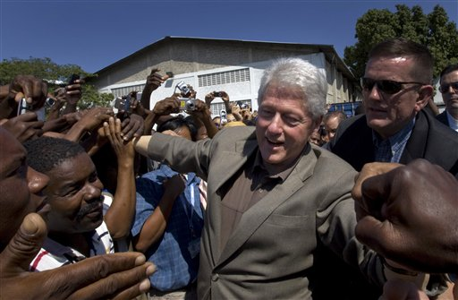 Bill Clinton and the Haitian people