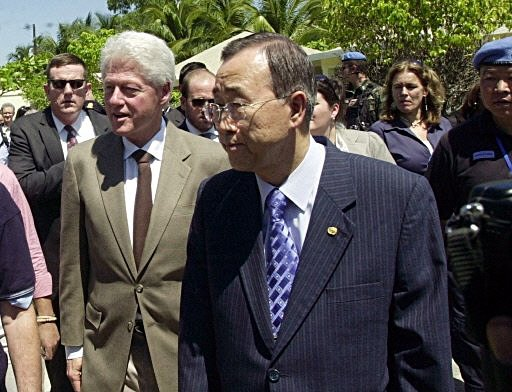 Bill Clinton in Haiti